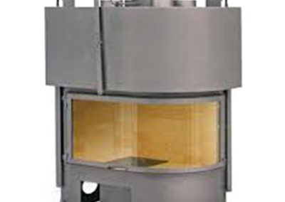 Френска горивна камера с ляво/дясно обло стъкло galbe lateral 900