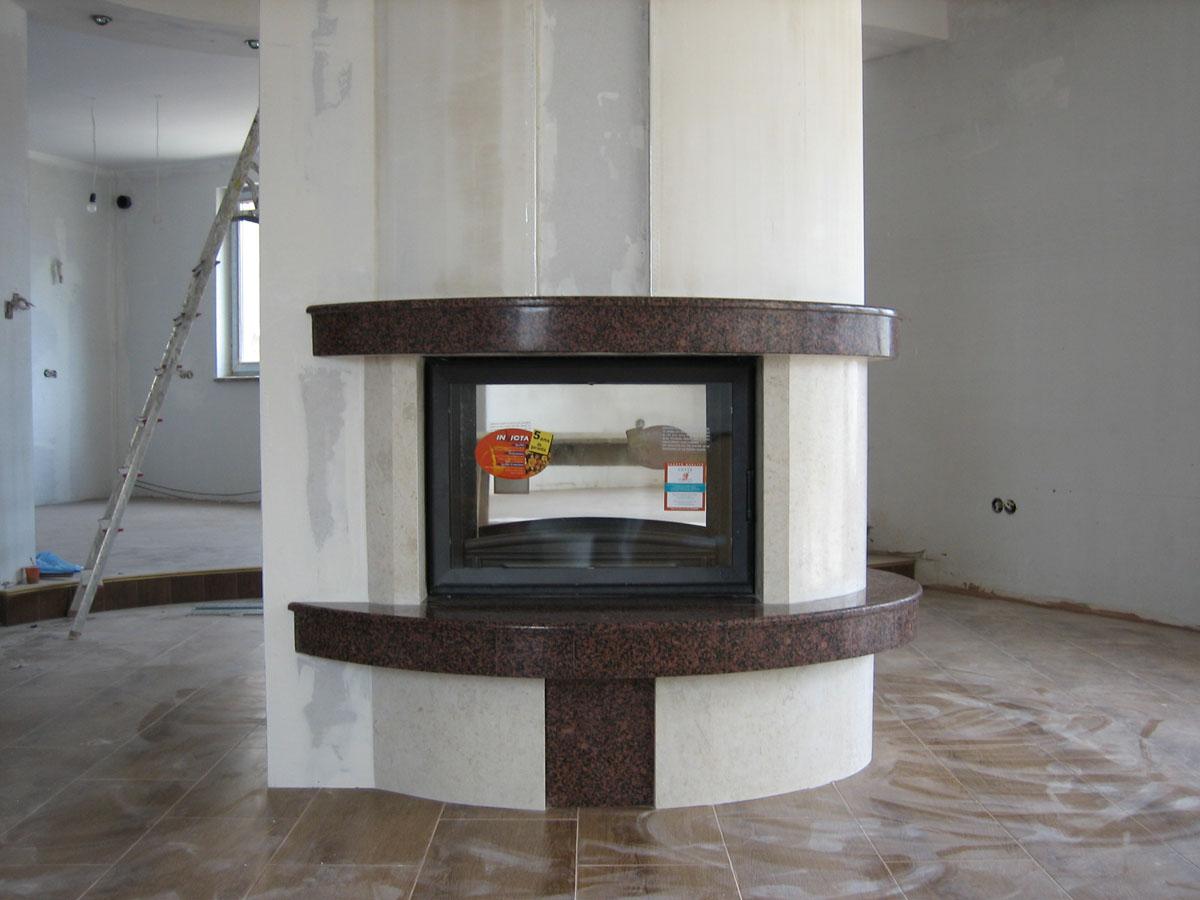 камина с две лица,  централно стояща,аккорд (1)
